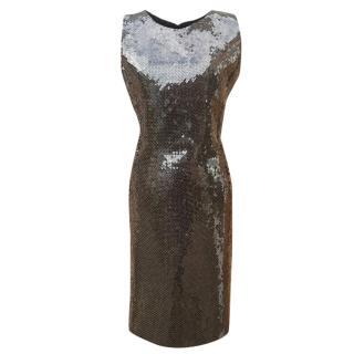 Carolina Herra Sleeveless Sequin Dress