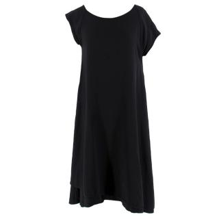 Bottega Veneta Asymmetric Black Silk Dress