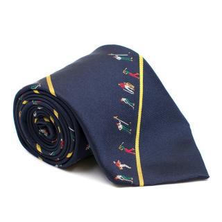 Harrods Silk Golf Patterned Tie