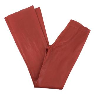 Jitrois Red Leather Flared Trousers