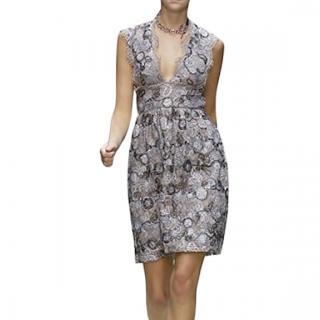 Burberry Prorsum Metallic Tinsel-Lace Cocktail Dress