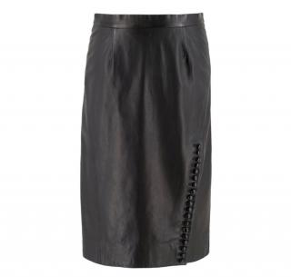 Moschino Cheap & Chic Black Leather Pencil Skirt