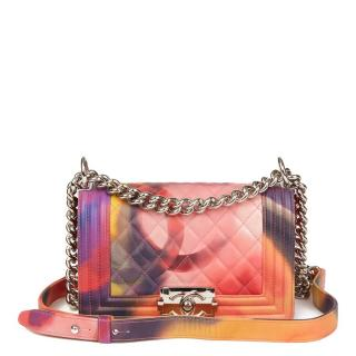 Chanel Quilted Multicolour Lambskin Leather Flower Power Small Le Boy