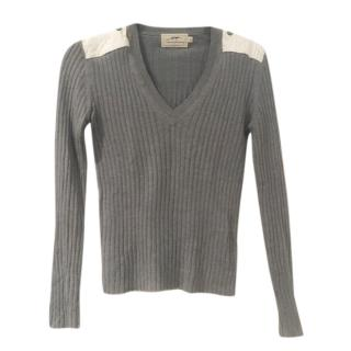 Burberry Grey Knit Sweater