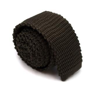 Fashion Clinic Green Silk-Knit Tie
