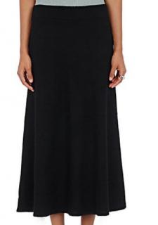 Chloe Cashmere Knit Midi Skirt in Navy