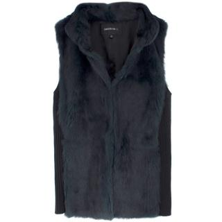 Lafayette 148 Emerald Rabbit Fox Vest