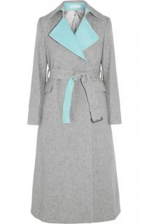 Sacai Luck belted wool-blend coat