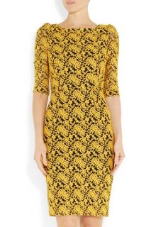 ALICE + OLIVIA March open back stretch lace dress NEW