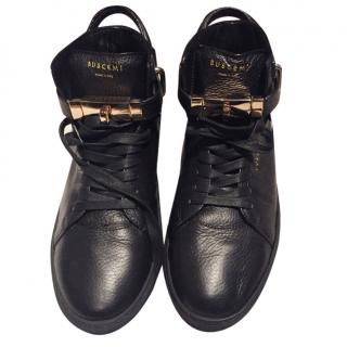 Buscemi black leather hightops