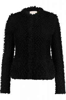 IRO Women's Black Boucle Shaggy Jacket