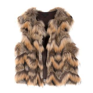 Theory Rabbit and Raccoon Fur Vest