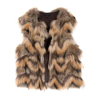 Theory Rabbit and Raccoon Fur Vest