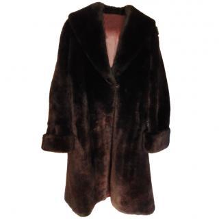 Bespoke Brown Shearling Coat