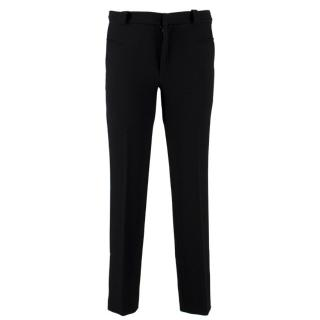 Roland Mouret Black Tapered Slim-Fit Trousers