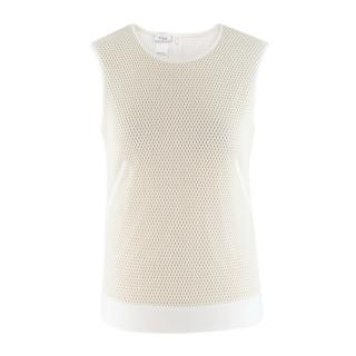Akris Punto Ecru Sleeveless Mesh Top