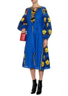 Vita Kin Blue Rhombus Dress