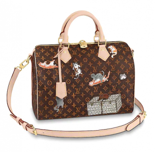 Louis Vuitton Catogram Speedy 30 Bandouliere Bag