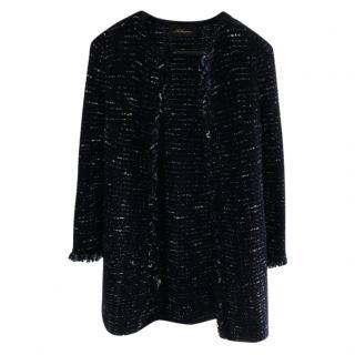 Les Copains Tweed Wool Peacoat