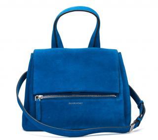 Givenchy Pandora blue-azure suede bag