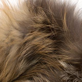 Yves Salomon fox fur snood