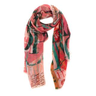 Carolina Herrera multicolour 'CH' scarf