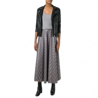 Golden Goose Deluxe embossed-herringbone midi skirt