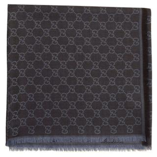 Gucci logo-jacquard wool and silk-blend scarf
