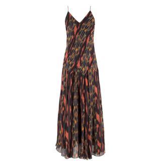 Proenza Schouler abstract-print silk midi dress