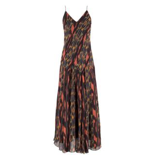 Proenza Schouler abstract-print silk midi dress