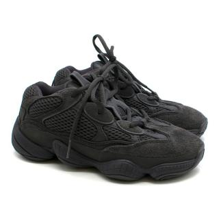 Adidas Originals Yeezy 500 Utility Black low-top trainers
