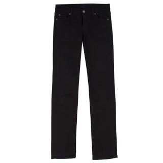 7 For All Mankind Black 'The Straight Leg' Jeans