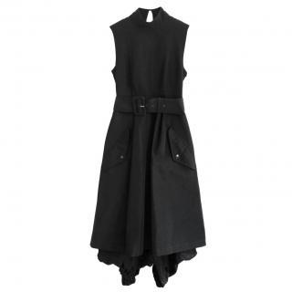 Jean Paul Gaultier Black Satin Parachute Skirt Dress