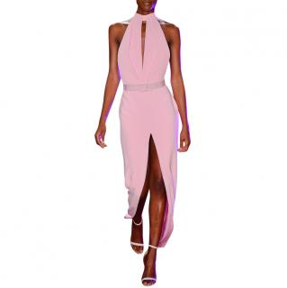 Brandon Maxwell pintuck-bodice crepe gown