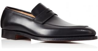 Crockett & Jones Merton slip-on leather loafers