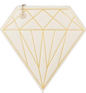 Charlotte Olympia D-Diamond Leather Wristlet