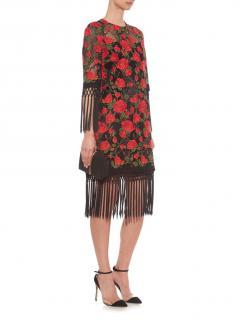 Dolce & Gabbana Rose Embroidered Catwalk Dress