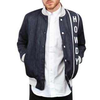 MARK McNAIRY AMSTERDAM Denim HOWDY Bomber Baseball Jacket