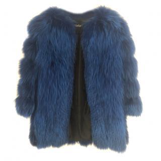 Midas Rano Russia  blue fox fur coat