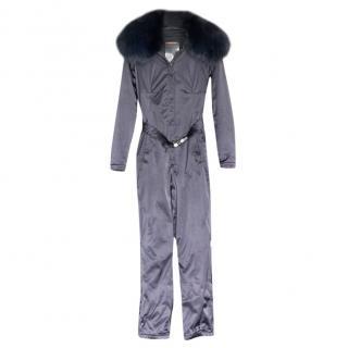 Prada fox collared ski suit