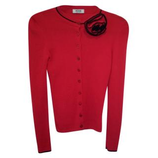 Moschino Cheap and Chic red cardigan