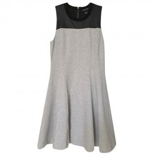 Club Monaco dress with faux-leather panel