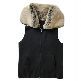 N.Peal Rabbit fur & cashmere gilet