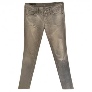 Citizens of Humanity Grey Distressed Skinny Jeans