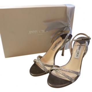 Jimmy Choo glitter sandals