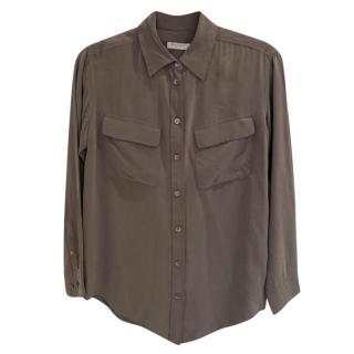 Equipment Grey Silk Shirt