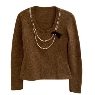 Moschino Cheap & Chic Brown Wool Jumper