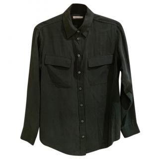Equipment Green Silk Shirt