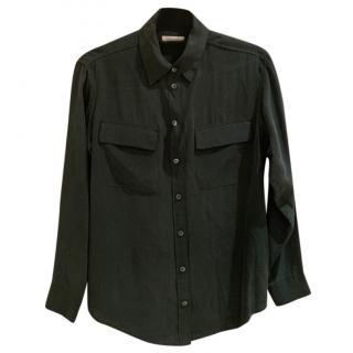 Equipment Green Silk Shirt