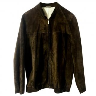 Zilli marron brown call suede jacket